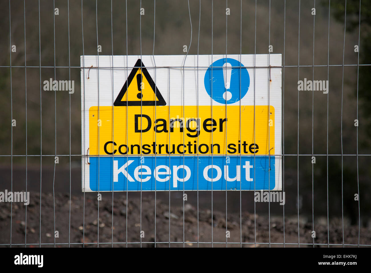 Danger Construction Site Keep Out sign - Stock Image