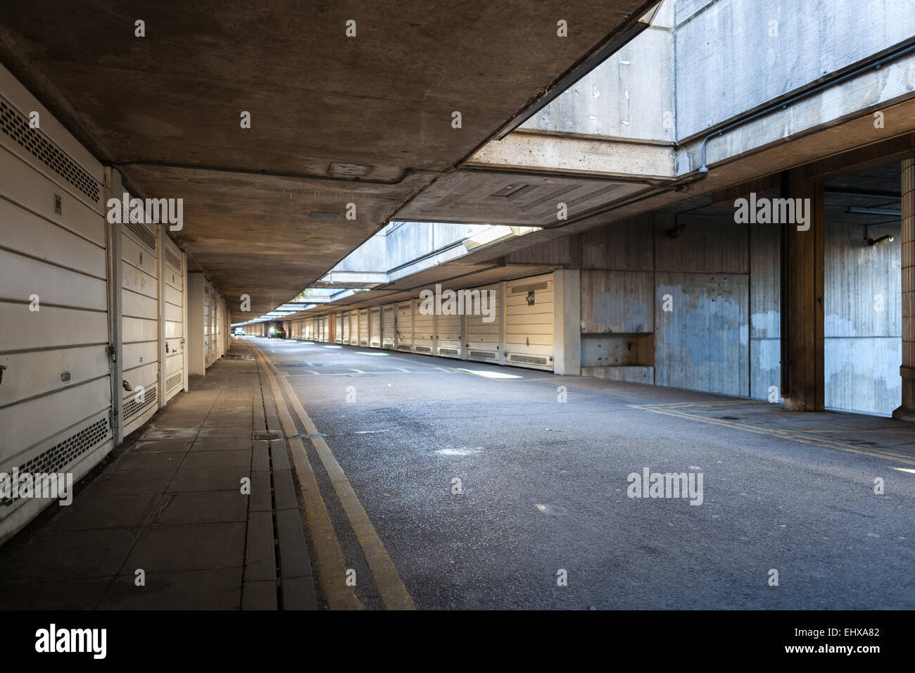 Alexandra and Ainsworth Estate underground car park Stock Photo