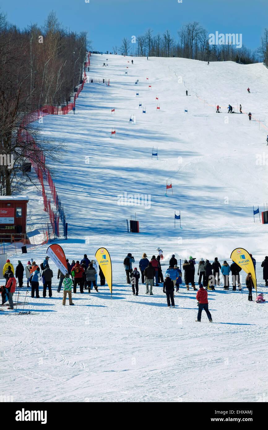 "alpine ski resort in collingwood;ontario;canada called ""blue stock"