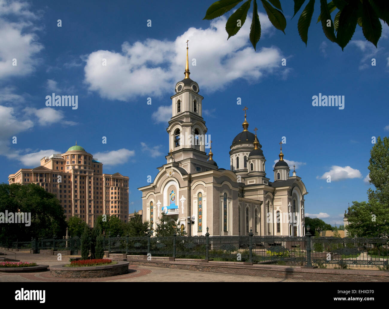 Architecture of Donetsk city (Ukraine, disputed territory). - Stock Image