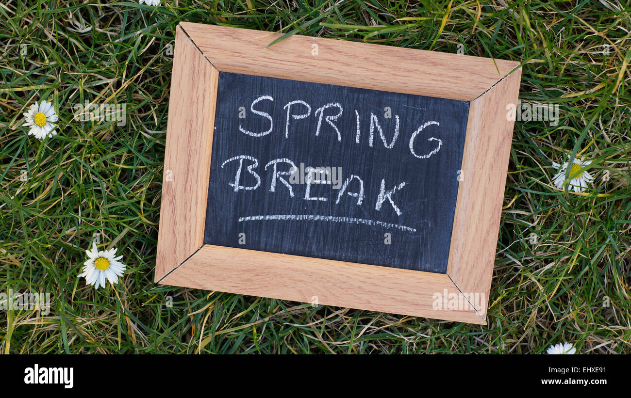 Spring Break Sign Stock Photos Spring Break Sign Stock Images Alamy