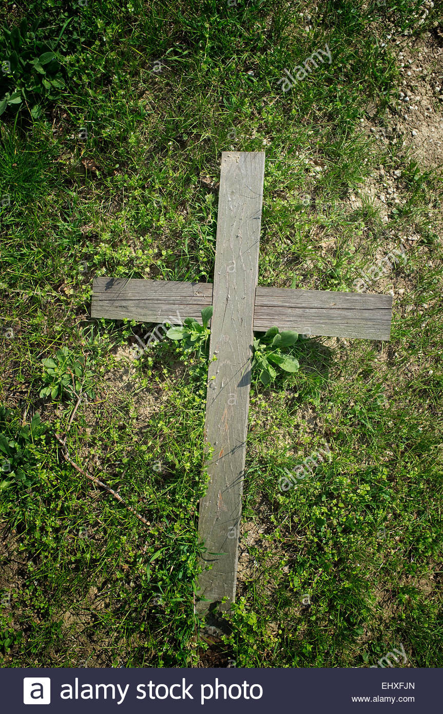 Wooden Cross Grave Stock Photos Wooden Cross Grave Stock Images