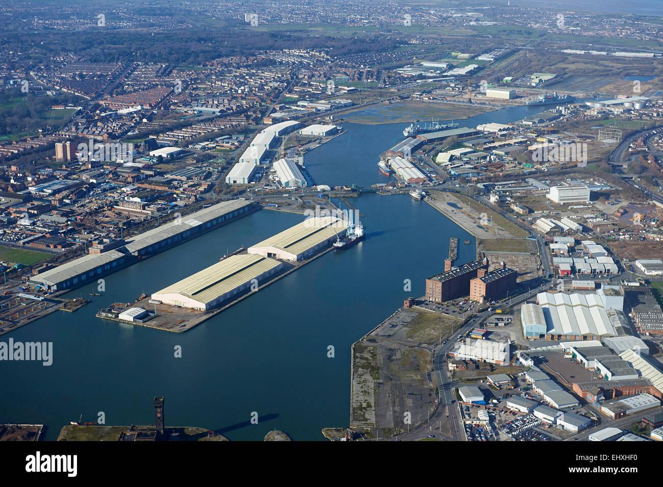 Birkenhead Docks, Merseyside, North West England, UK - Stock Image