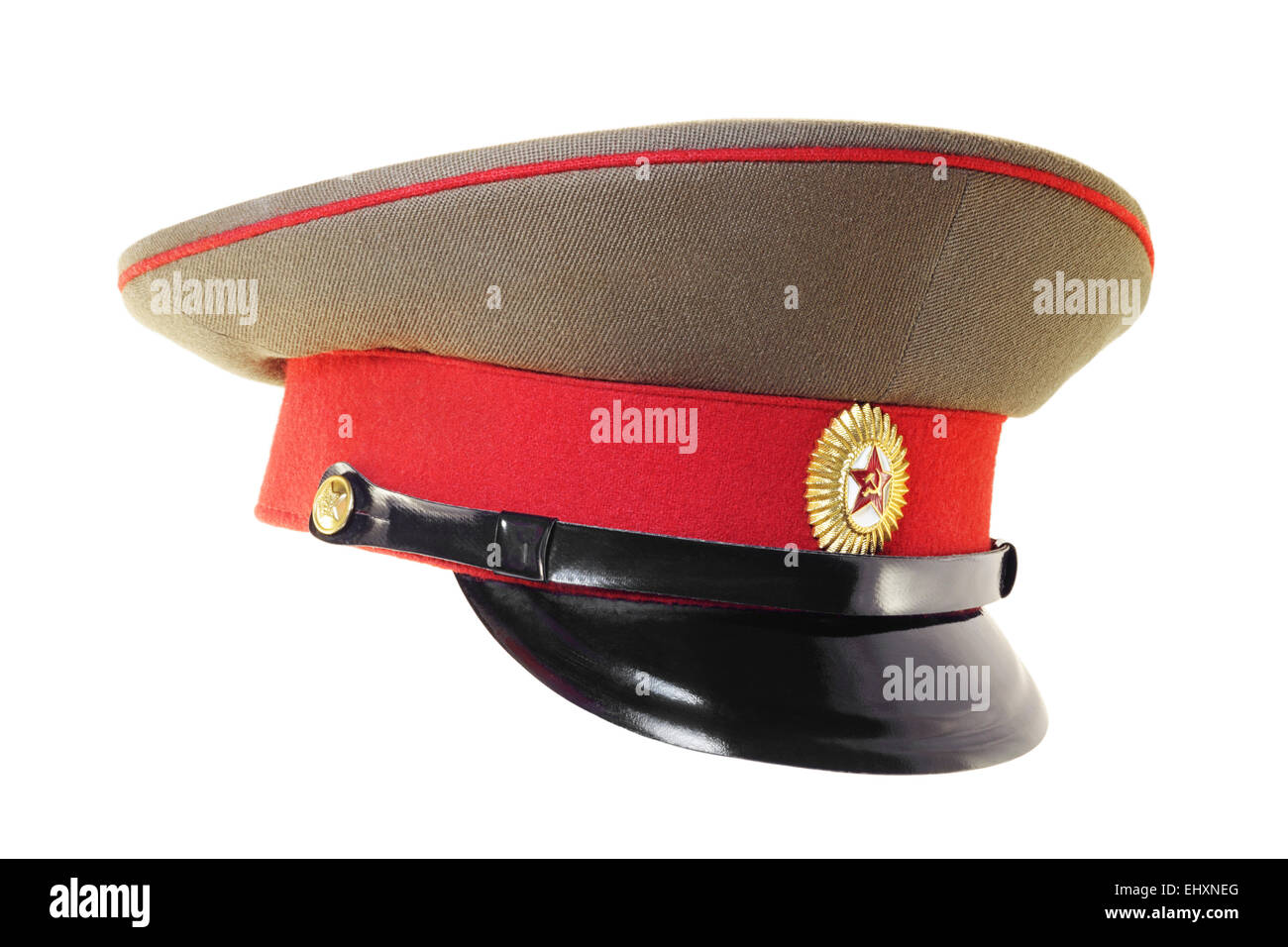 29f099f210fe6 Cap Russian Army Officer Isolated Stock Photos & Cap Russian Army ...