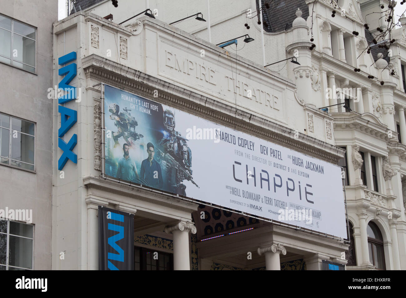 Imax Empire Theatre at Leicester Square London showing Chappie - Stock Image
