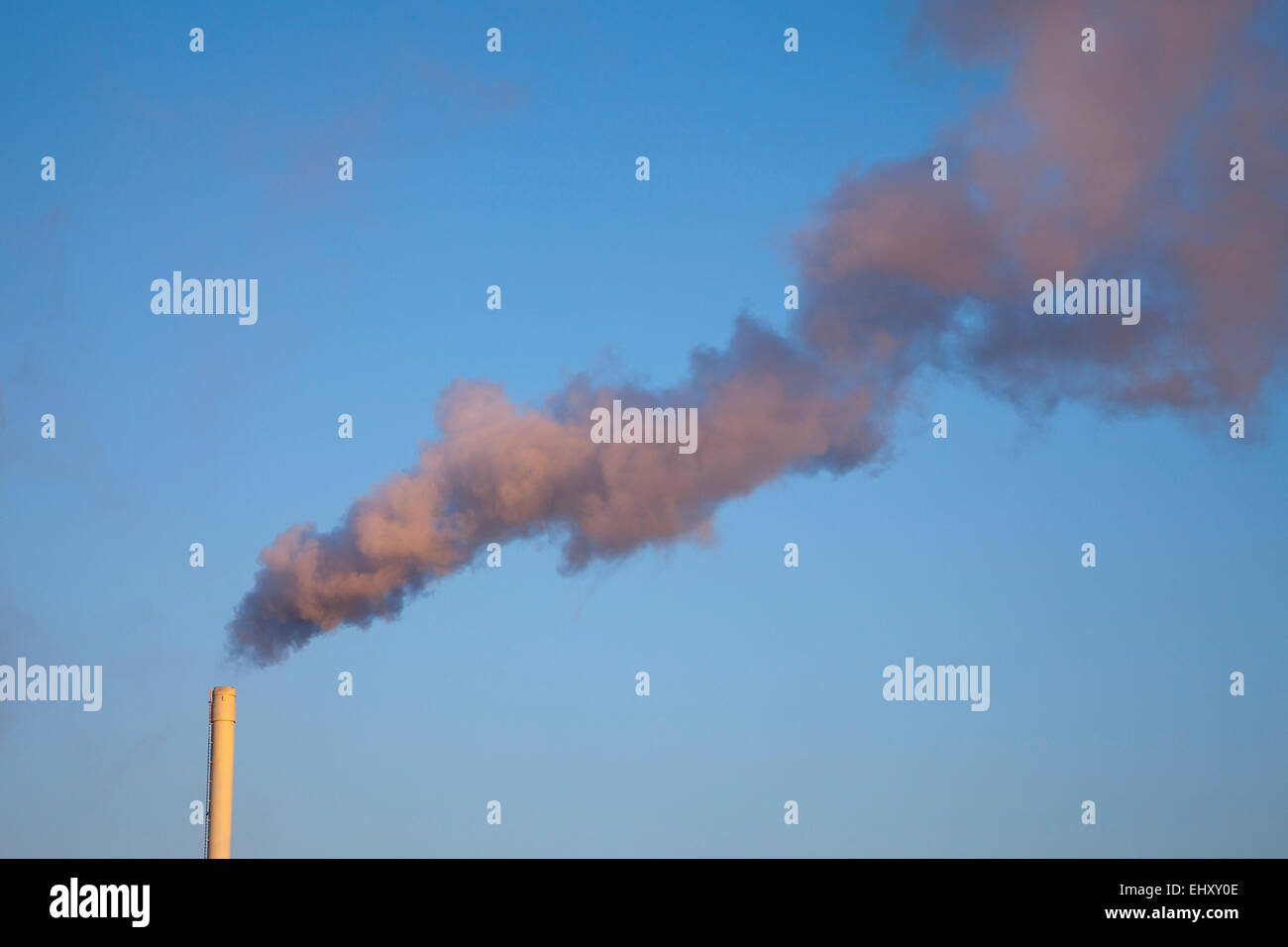 Germany, smoking chimney Stock Photo