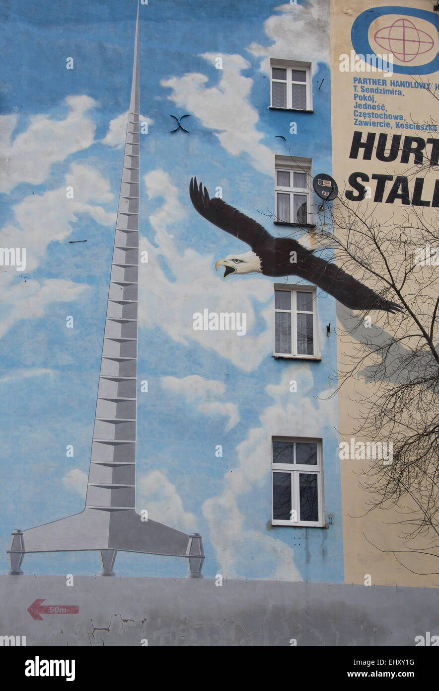 Street Art in Wroclaw - Stock Image
