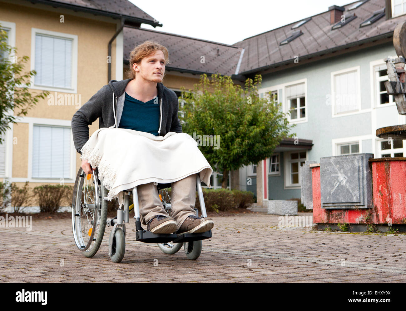 Young wheelchair user - Stock Image