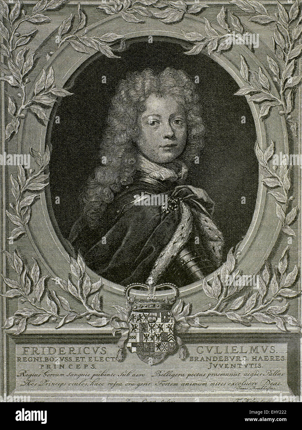 Frederich William (1620-1688). Elector of Brandenburg and Duke of Prusia. Engraving. 19th c. - Stock Image