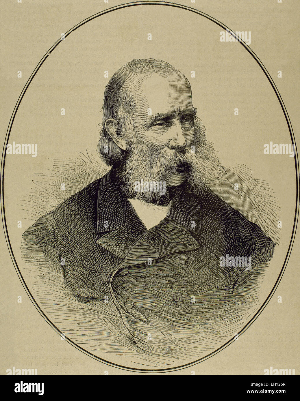 Archduke Frank Karl Joseph of Austria (1802-1878). House of Habsburg. Father of two emperors (Franz Joseph I of - Stock Image