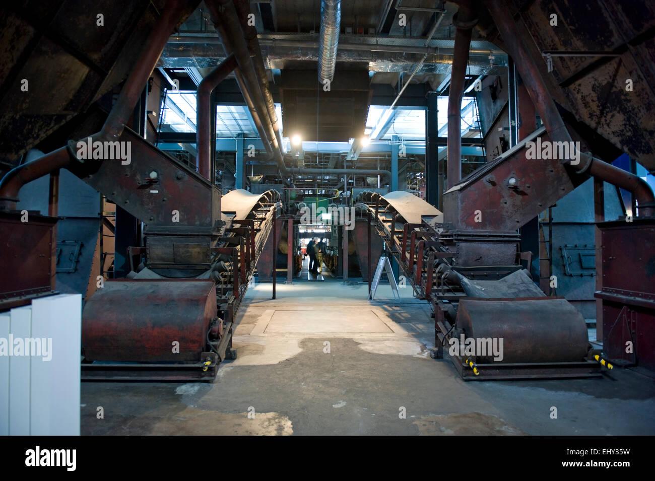 Visitor area of the Ruhr Museum Zeche Zollverein World Heritage Site in Essen, North Rhine-Westphalia, Germany, - Stock Image