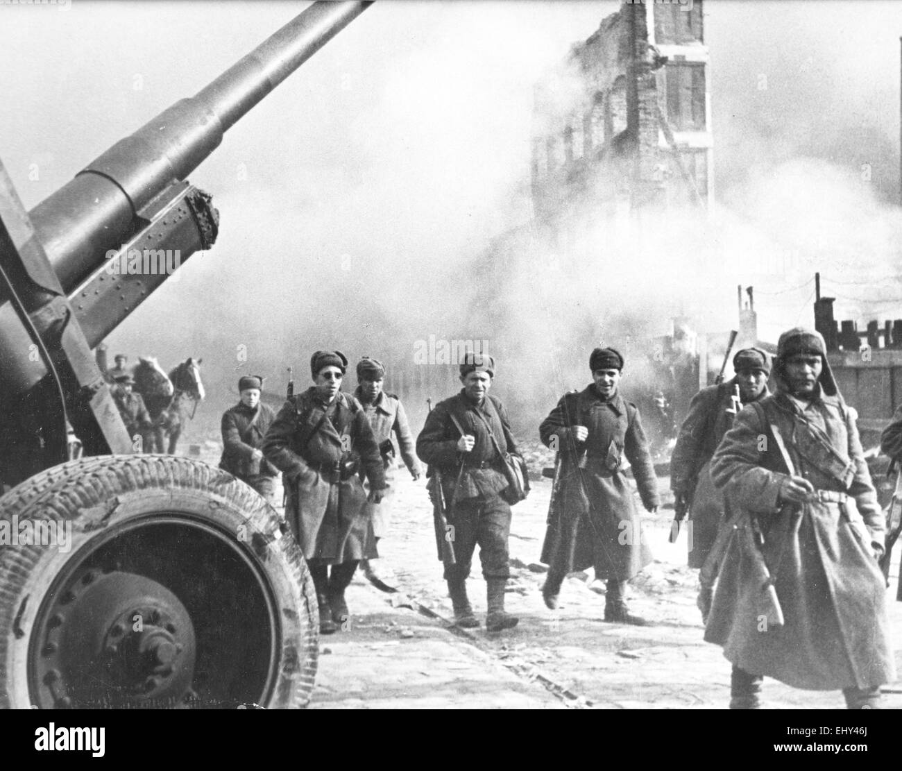 RED ARMY enters Danzig, Poland on 30 March 1945 Stock Photo