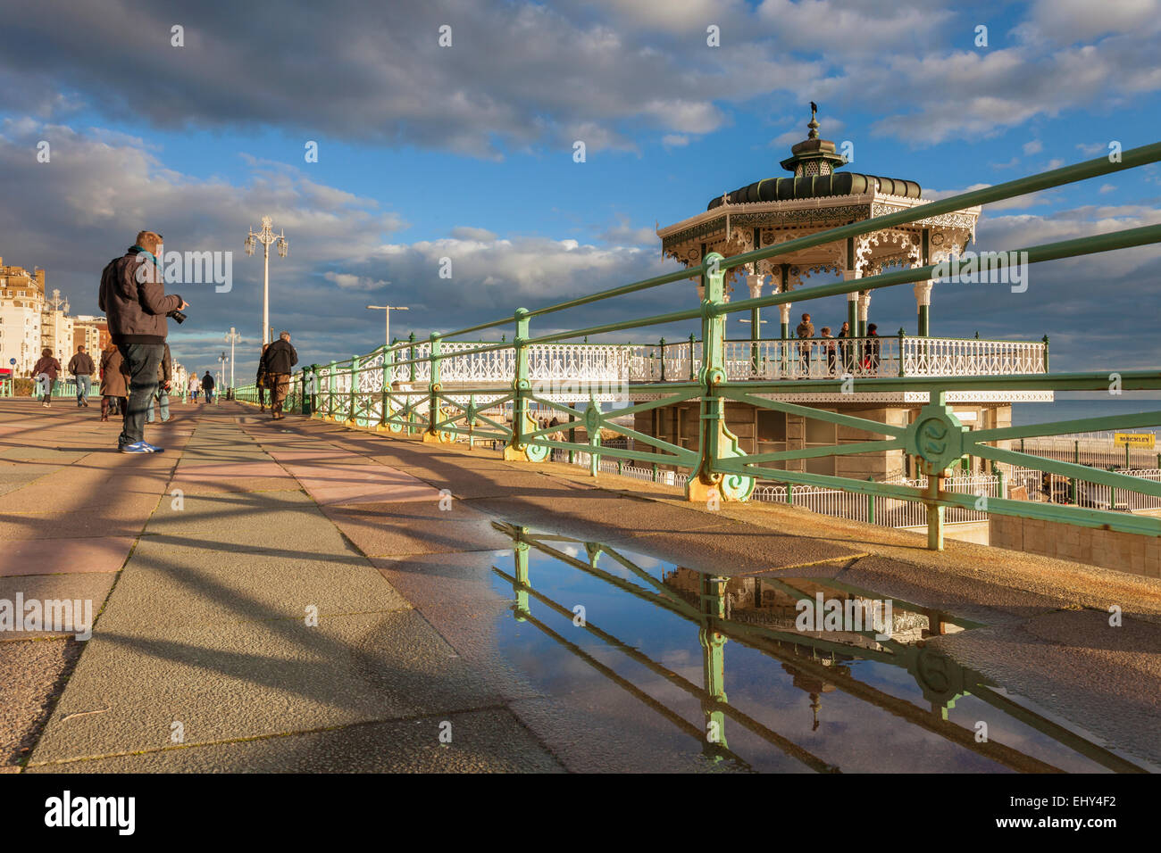 Afternoon at the Bandstand on Brighton seafront, East Sussex, England. - Stock Image