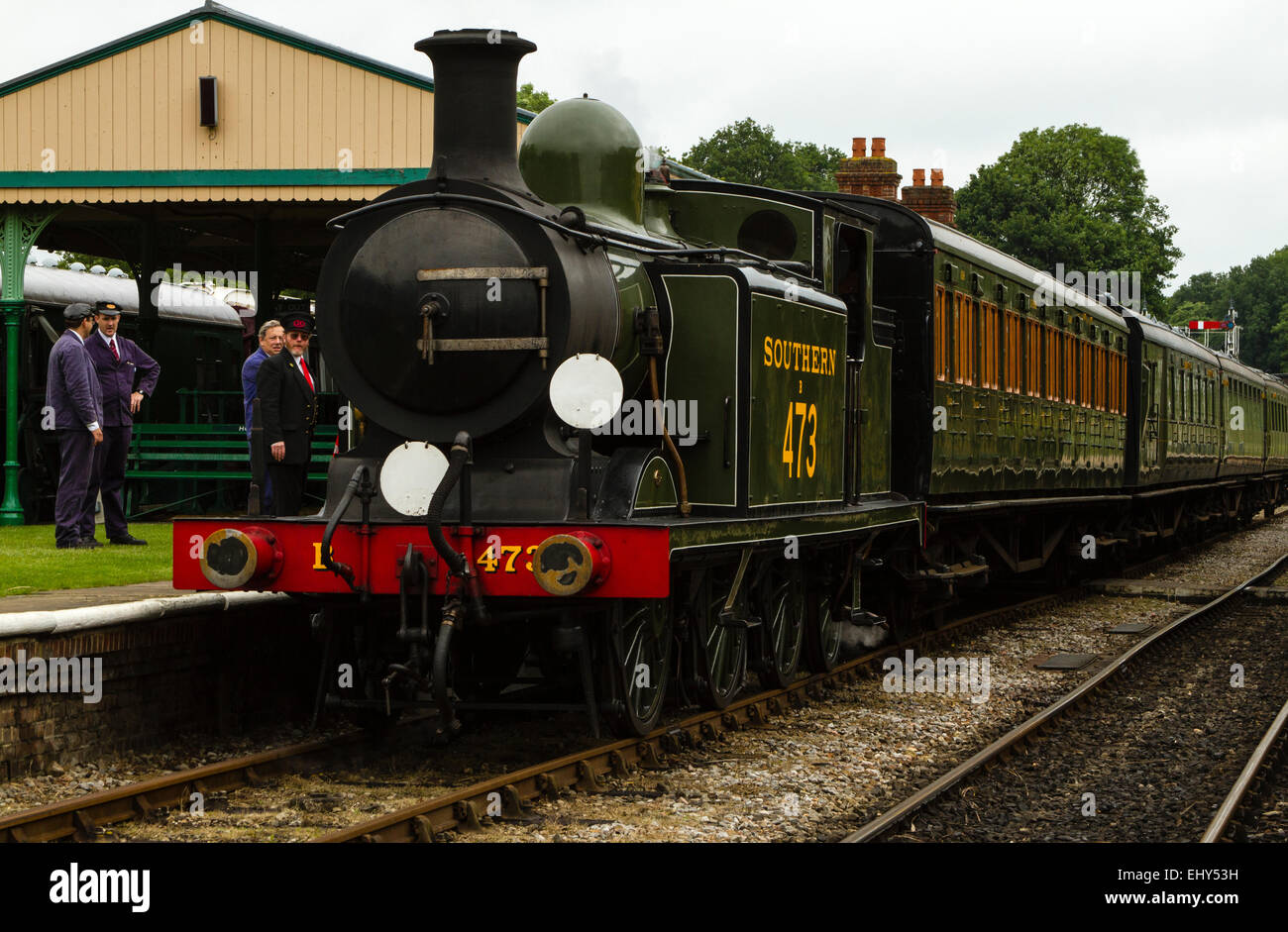 Bluebell Railway locomotive LBSCR Billinton Radial Tank, No.B473 Birch Grove is a 0-6-2T engine built in Brighton - Stock Image
