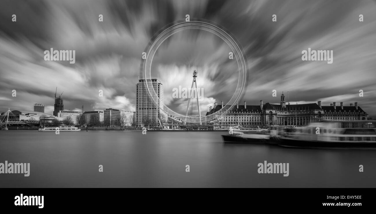 Afternoon at the London Eye, England. - Stock Image