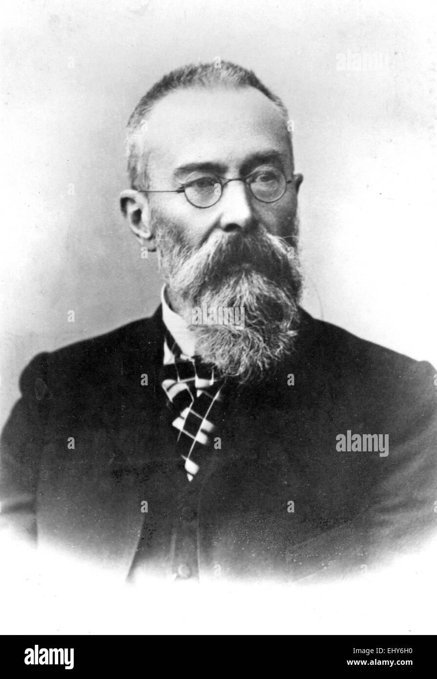 NIKOLAI RIMSKY-KORSAKOV (1844-1908) Russian composer - Stock Image