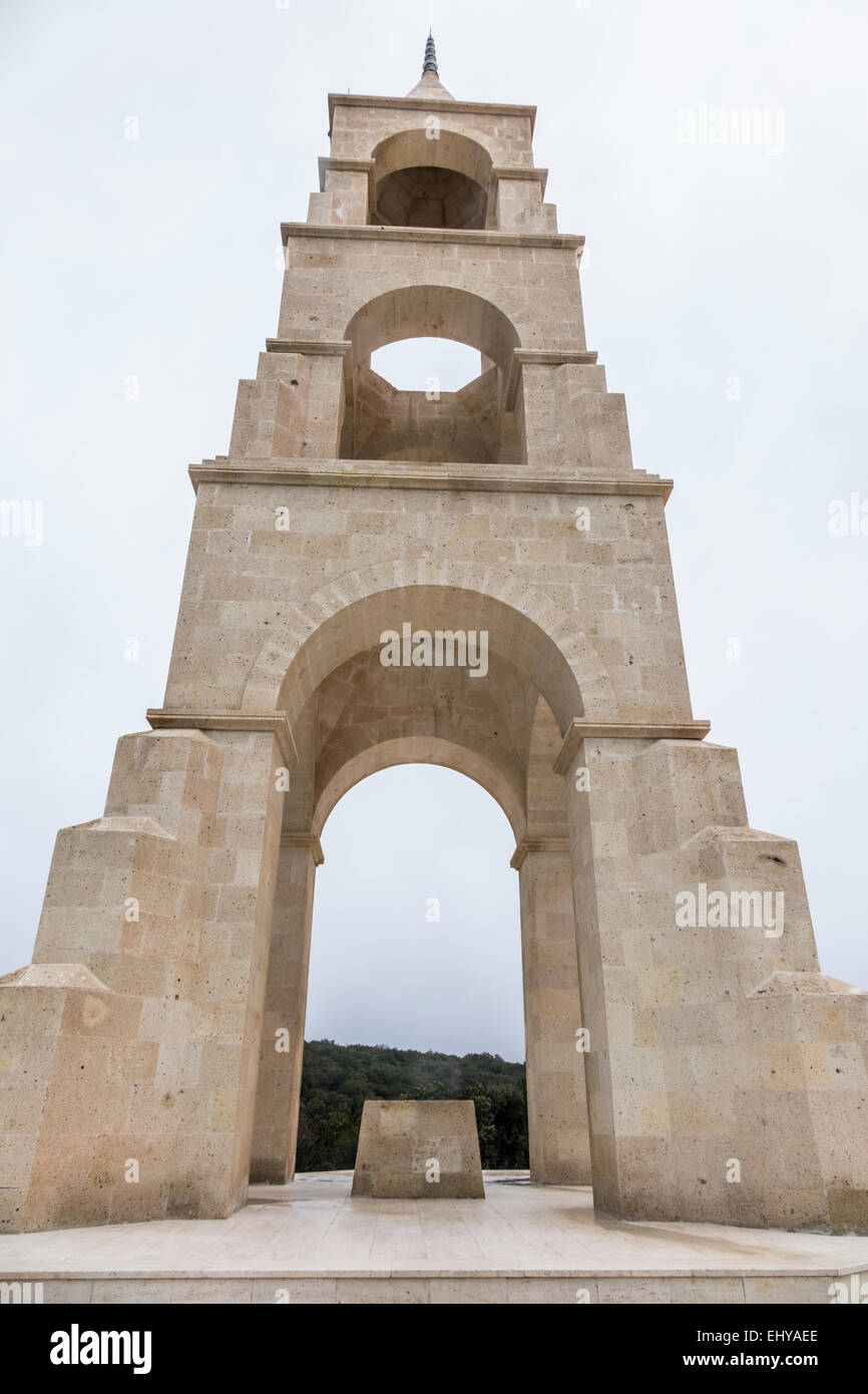 Gallipoli, Turkey, WW1 Centenary 2015 - the 57th regiment Turkish cemetery and memorial - Stock Image