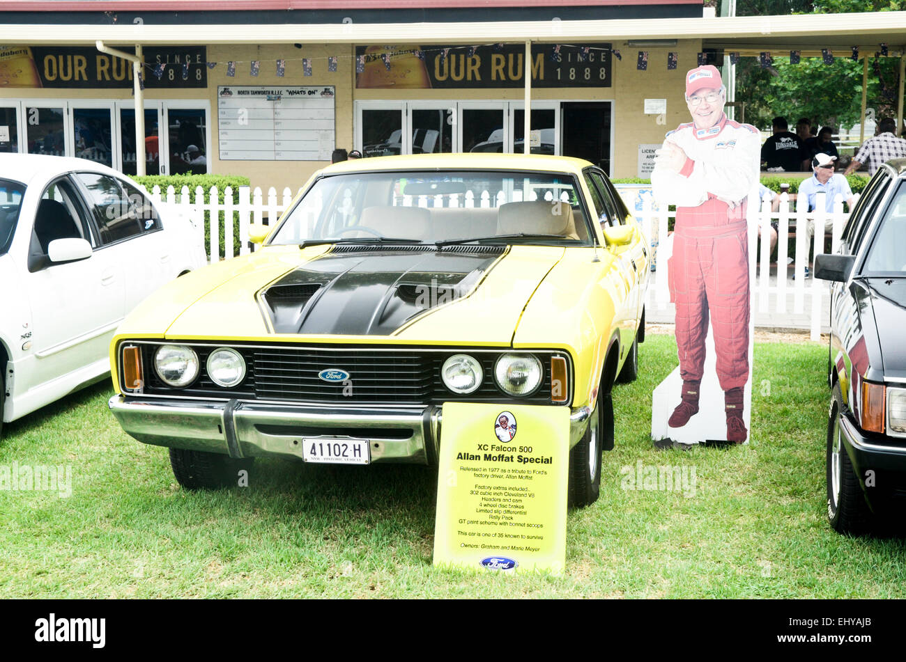 1977 XC Ford Falcon 500 Allen Moffat Special on display in Tamworth