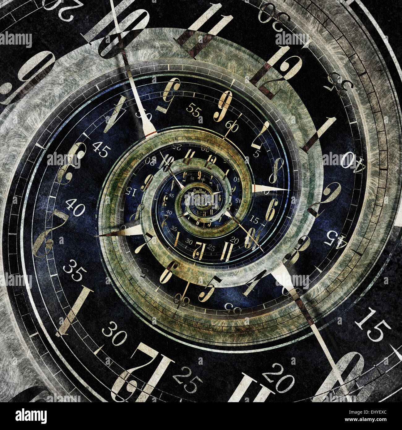 Endless Time Concept Illustration. Abstract Endless Clock Design. - Stock Image