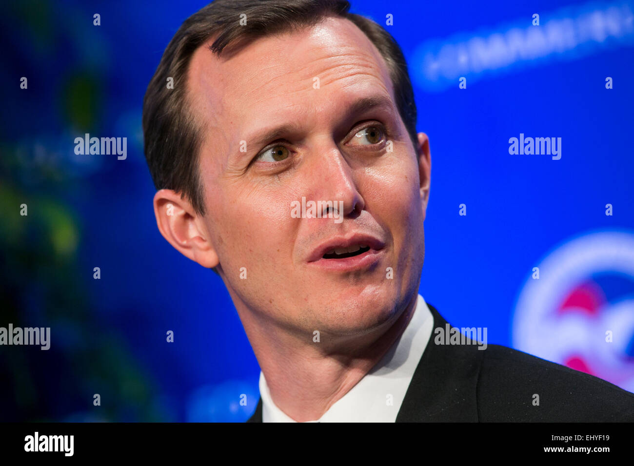 Washington, DC, USA. 17th Mar, 2015. George T. Whitesides, CEO, Virgin Galactic, speaks at the 14th annual U.S. - Stock Image