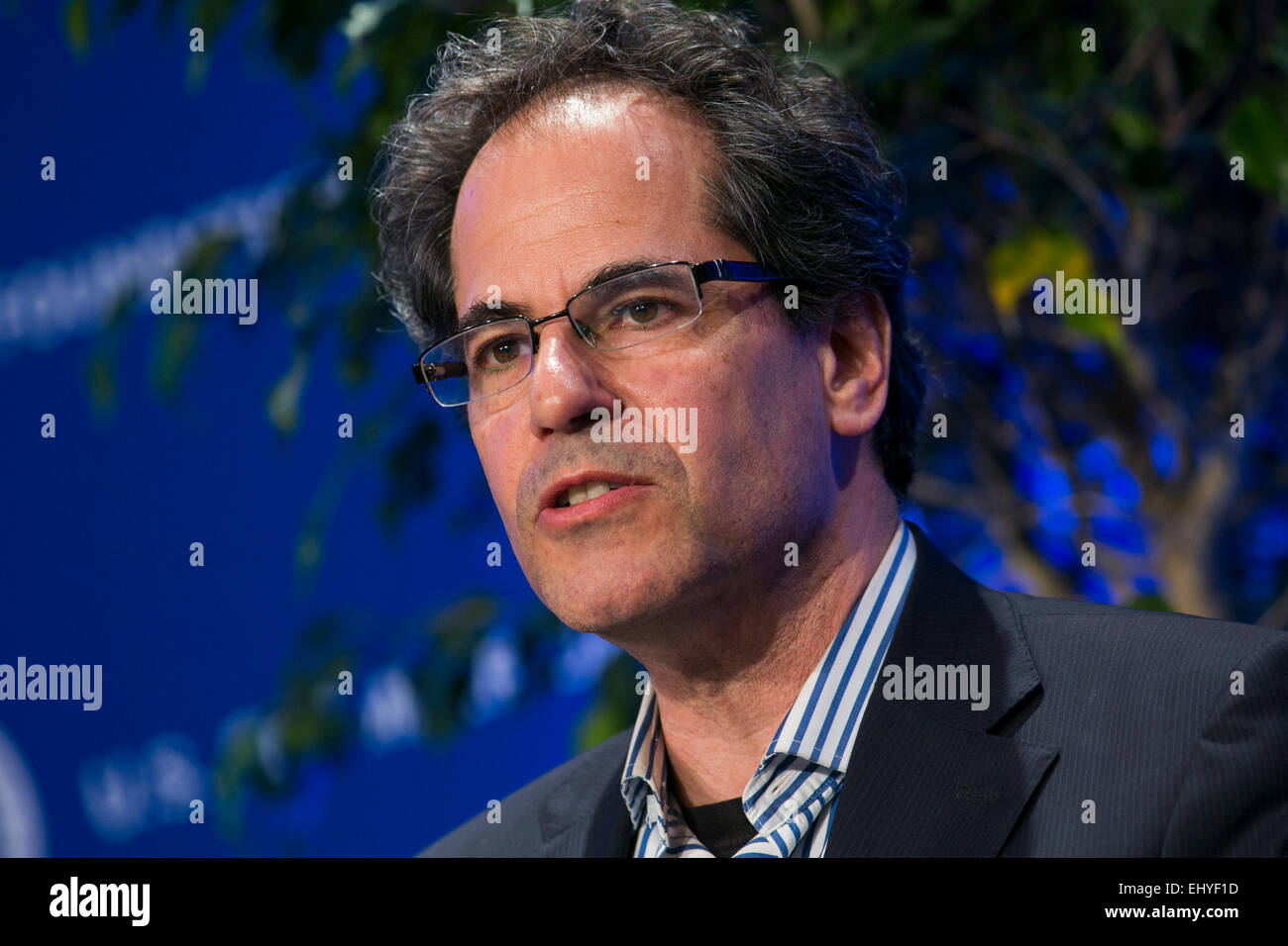 Washington, DC, USA. 17th Mar, 2015. Jeffrey Manber, CEO, NanoRacks, speaks at the 14th annual U.S. Chamber Of Commerce - Stock Image