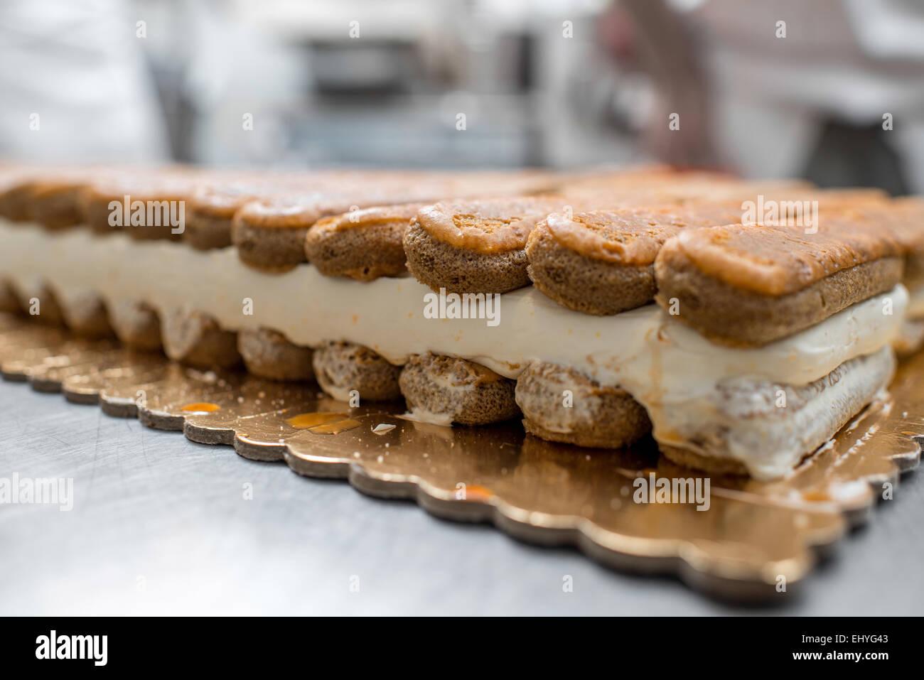 Tiramisu cookies - Stock Image