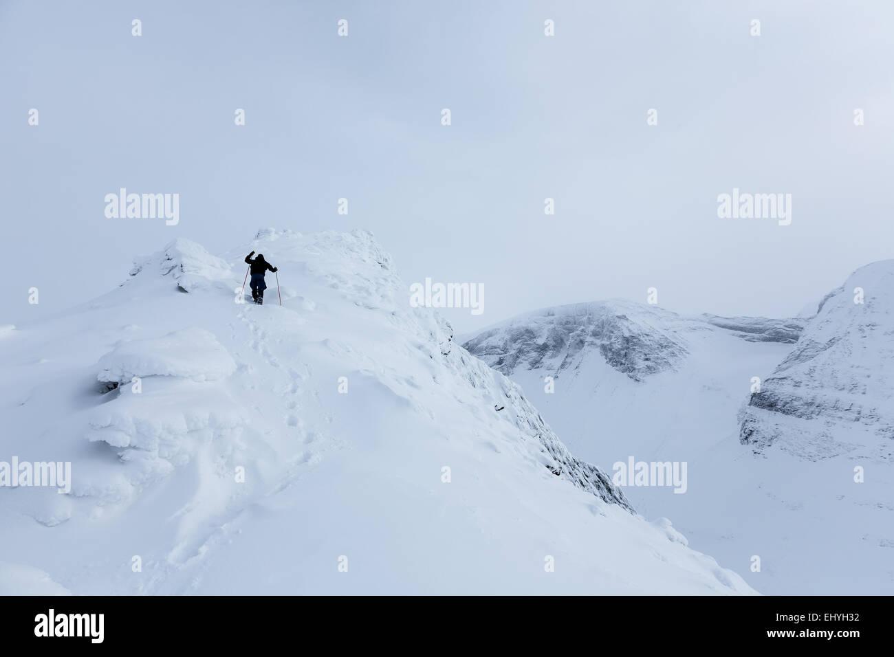 Nallostugan, Kebnekaise mountain area, Kiruna, Sweden, Europe, EU - Stock Image