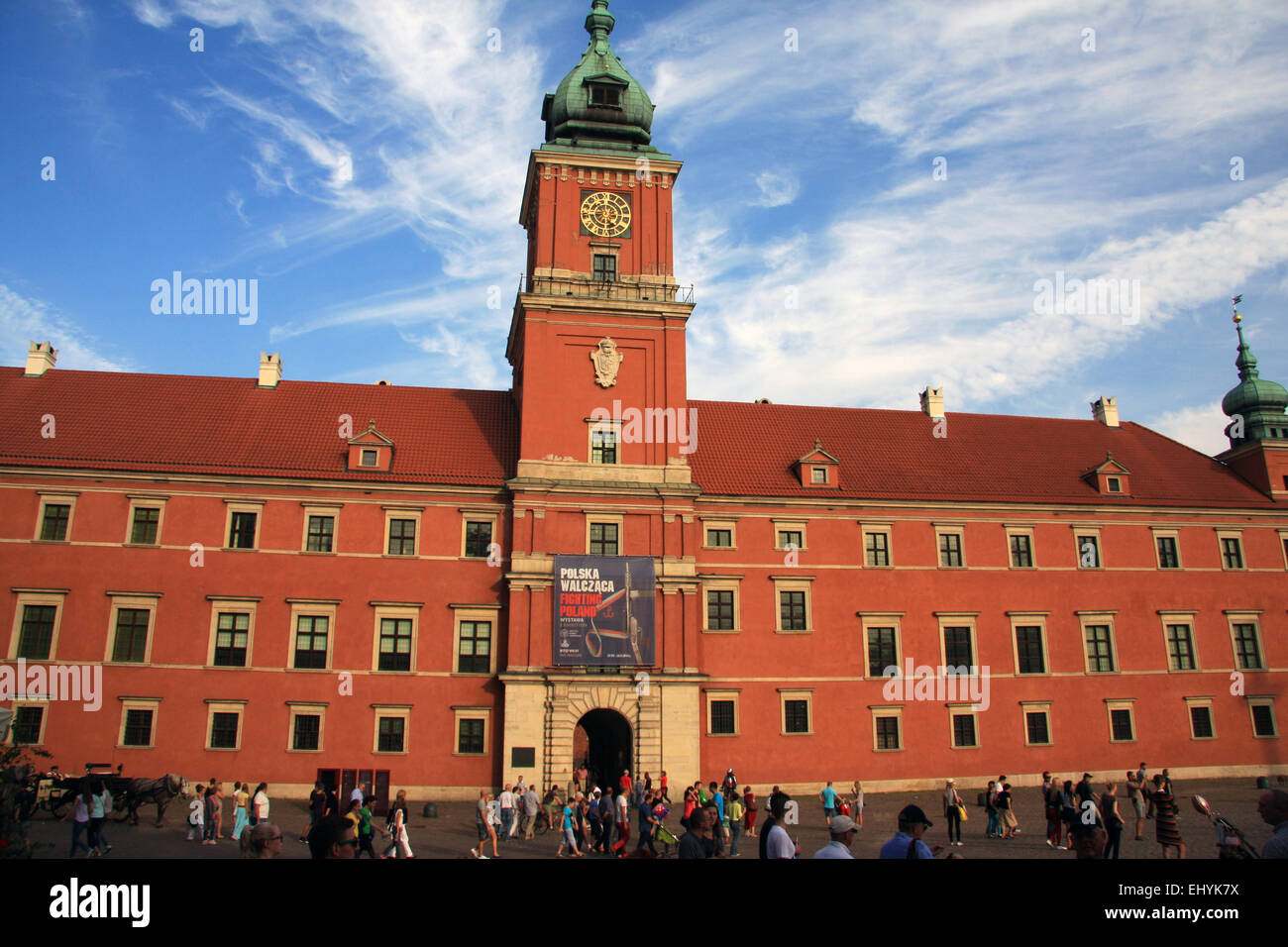 Poland, Warsaw, Europe, castle, Unesco, world cultural heritage, Zamkowy - Stock Image