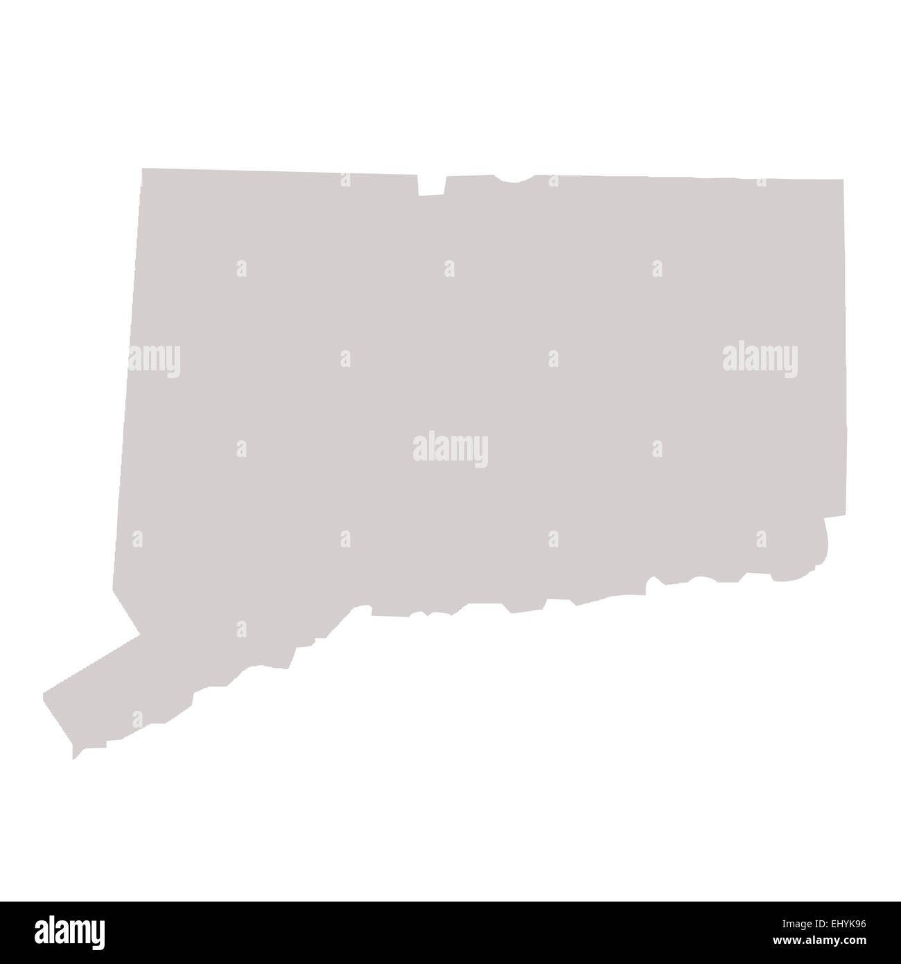 Connecticut State map isolated on a white background, USA Stock ...