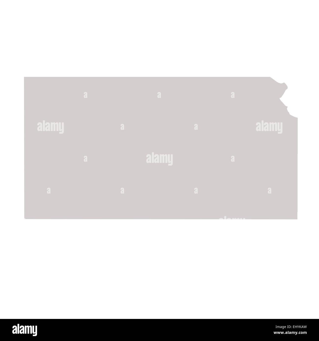 Kansas State Map Isolated On A White Background Usa Stock Photo