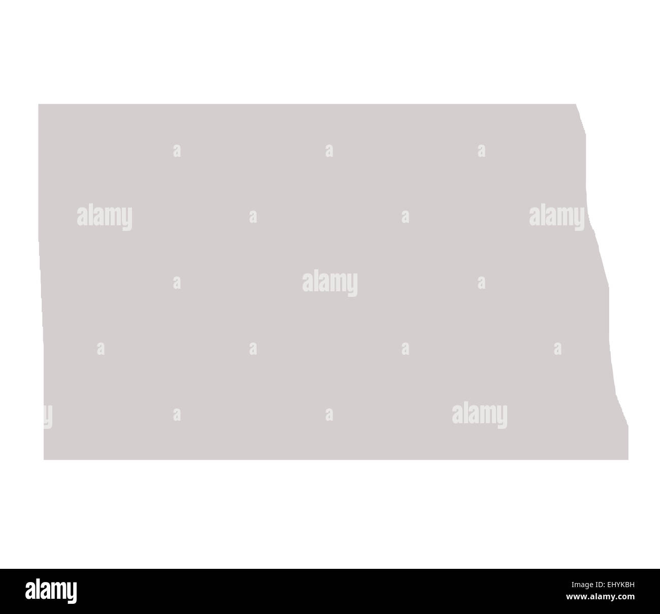 North Dakota State map isolated on a white background, USA Stock ...
