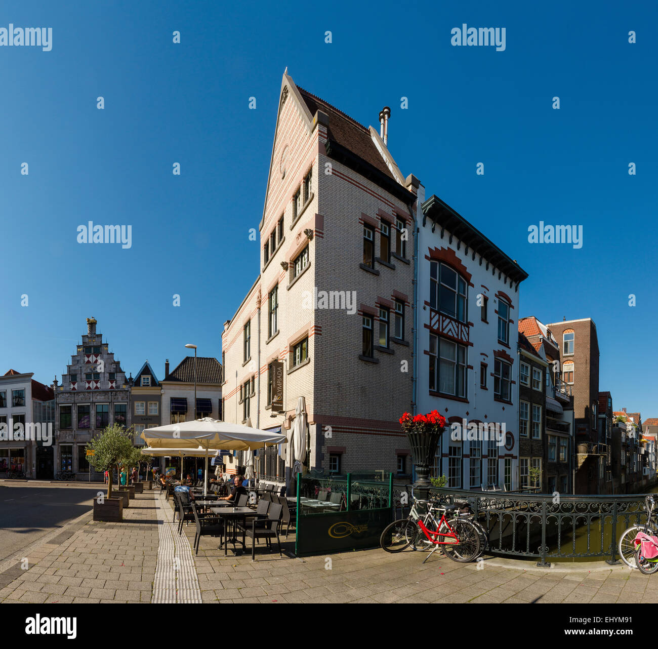 Netherlands, Holland, Europe, Dordrecht, styles, architecture, city, village, summer, - Stock Image