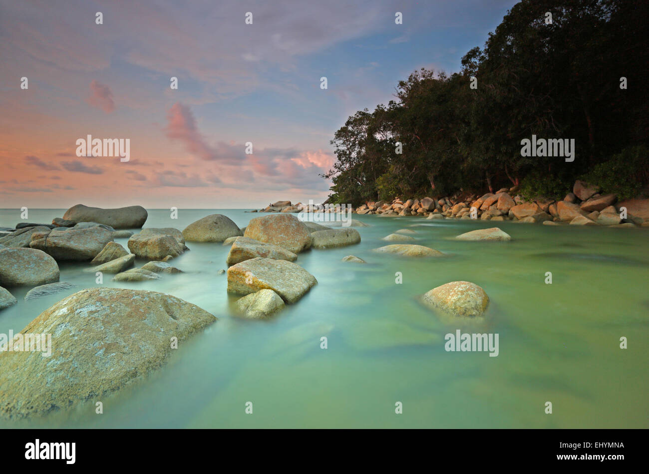 Beach, Singkawang, West Kalimantan, Indonesia - Stock Image