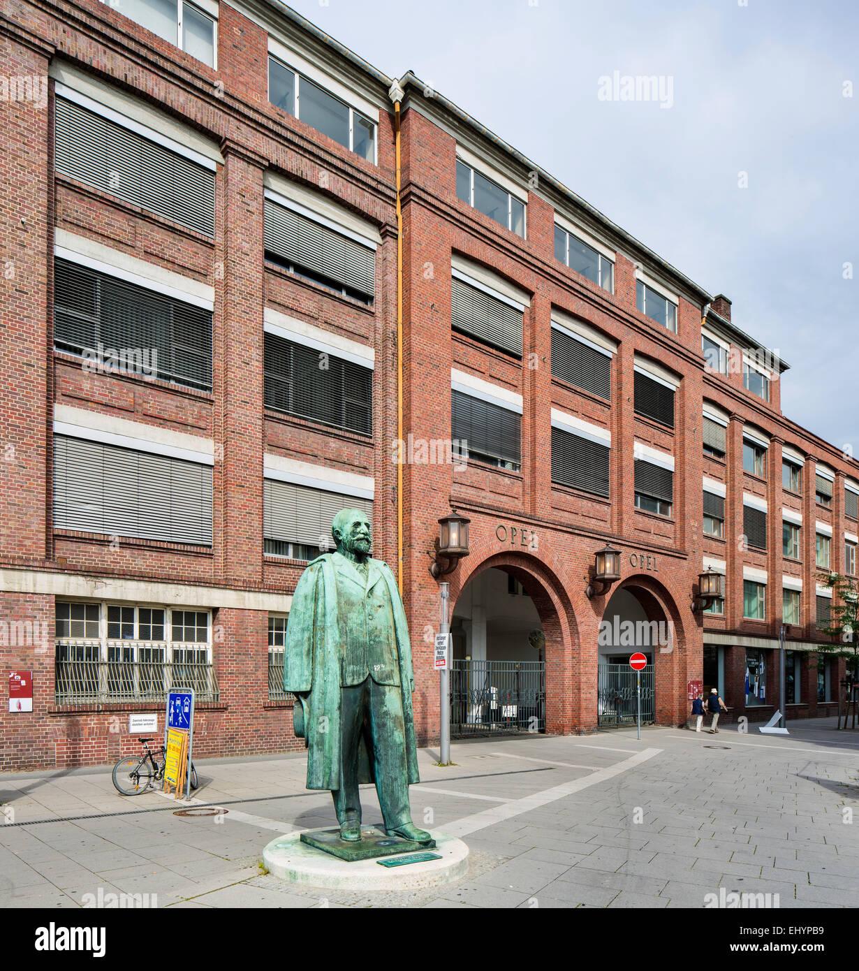 Opel Forum, former factory halls of Adam Opel AG, Rüsselsheim, Hesse, Germany - Stock Image
