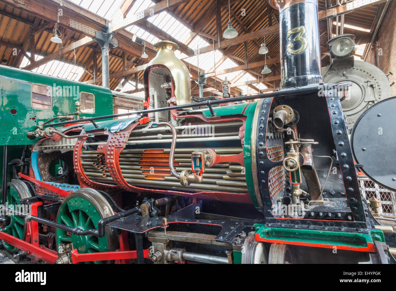 England, Manchester, city, Museum of Science and Industry aka MOSI, 'Beyer Peacock'Locomotive built 1873 - Stock Image