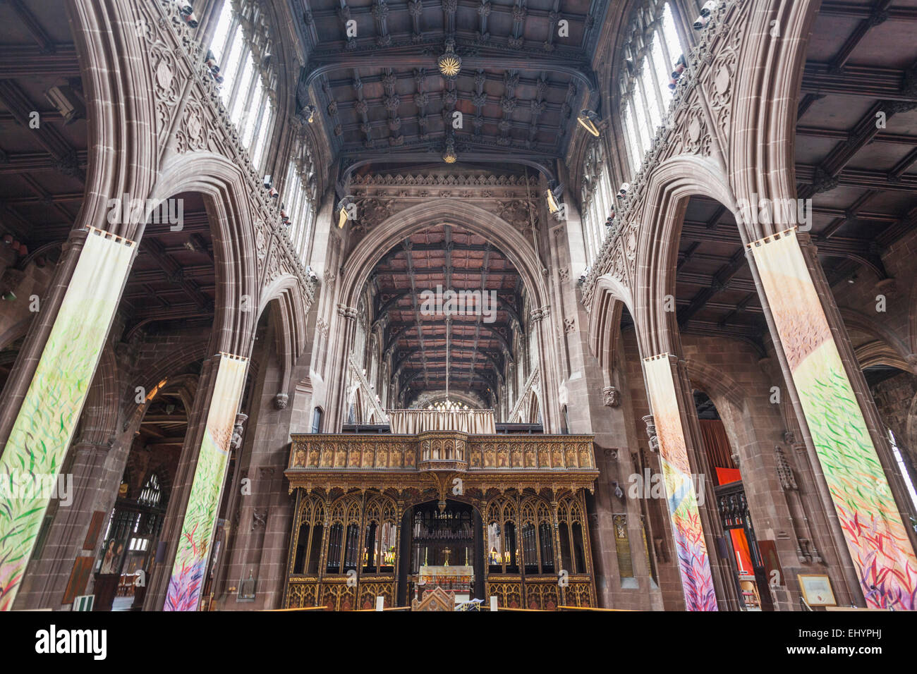 England, Manchester, city, Manchester Cathedral, Interior View - Stock Image