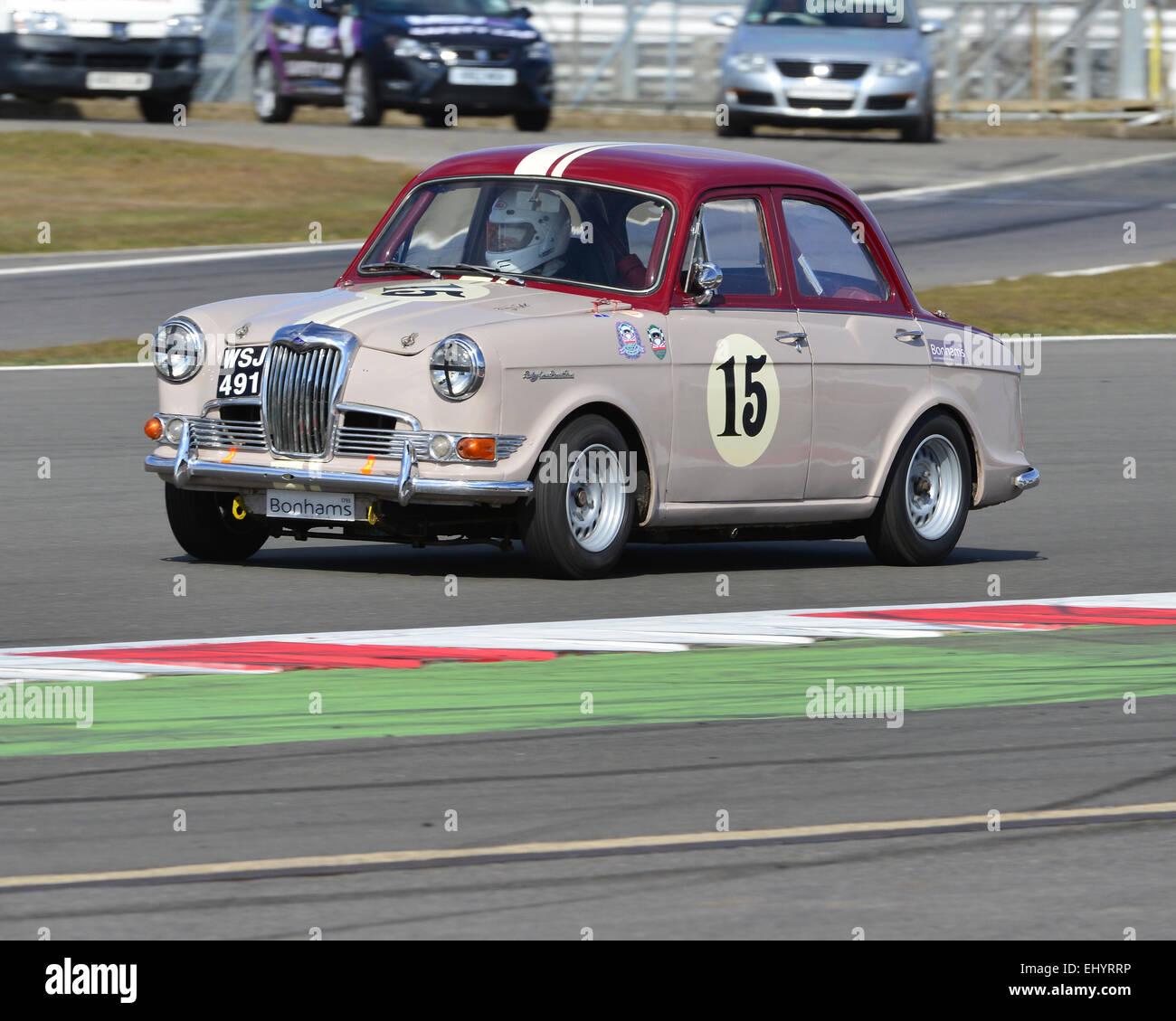 John Polson, Sholto Gilbertson-Hart, Riley 1-5, WSJ 491, HRDC Touring Greats, Aston Martin Owners Club Racing, HRDC, - Stock Image