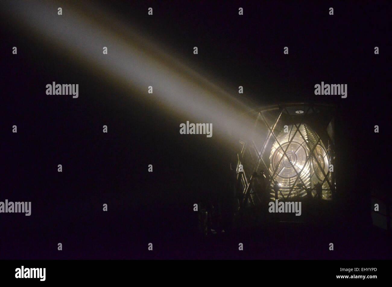 England, Cornwall, lizard point, lizard lighthouse, lighthouse, beam of light, lens, Great Britain, Europe, - Stock Image