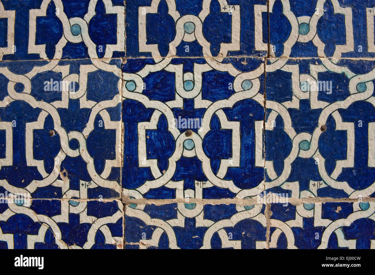 Asia Uzbekistan Central Silk Road Outside Inside Day Building Construction Architecture Mosaic Ornament Decorati