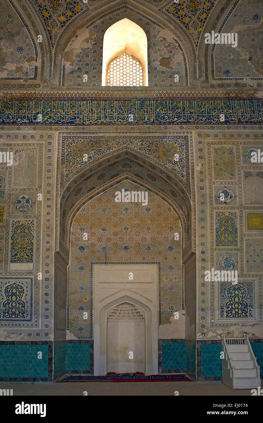 Asia Uzbekistan Central Silk Road Inside Building Construction Architecture Mosaic Ornament Decoration Decorated