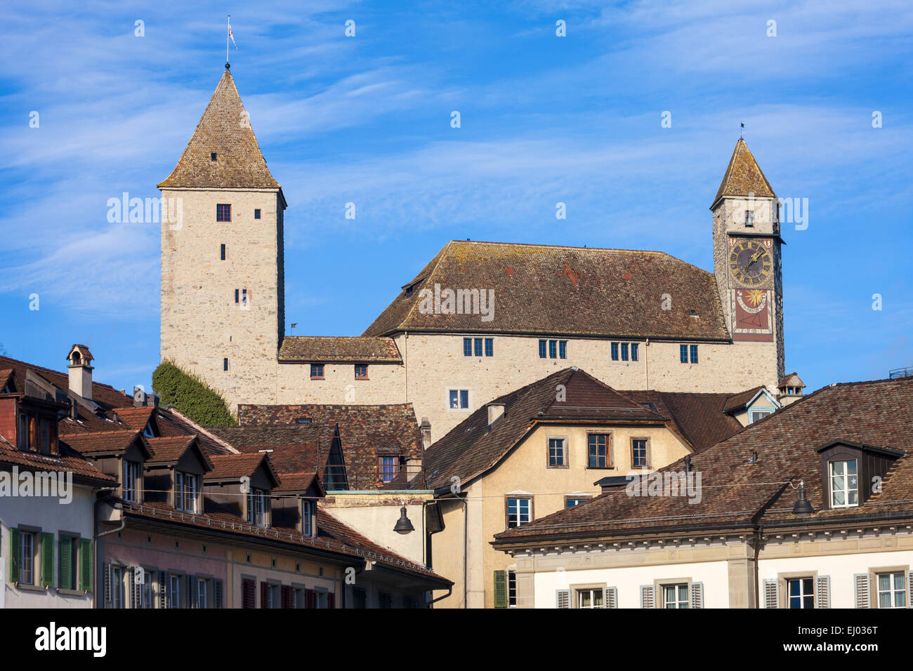 Rapperswil, Switzerland, Europe, canton St. Gallen, castle, - Stock Image