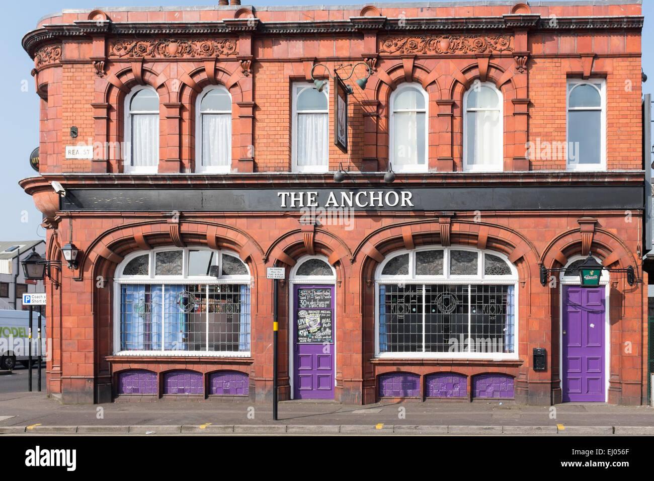 The Anchor public house in Rea Street, Digbeth, Birmingham - Stock Image