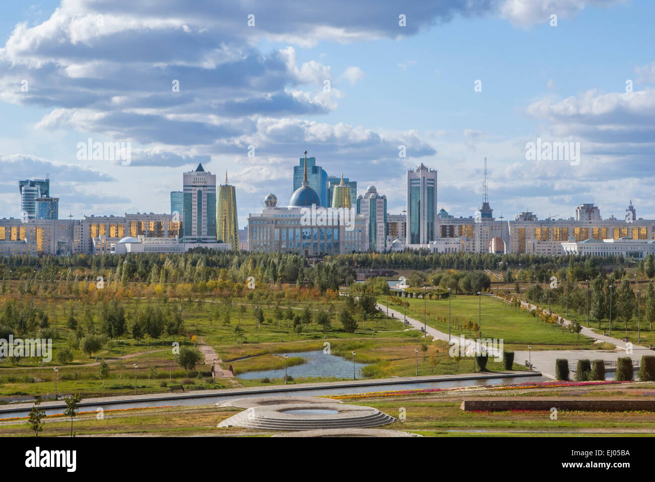 Administrative City, Astana, City, Kazakhstan, Central Asia, New, Palace, Summer, architecture, colourful, no people, - Stock Image