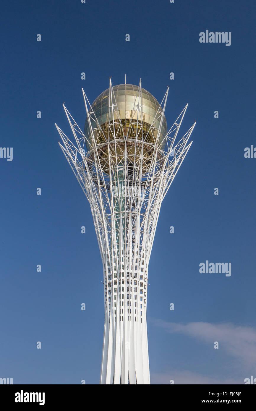 Astana, Bayterek, City, Kazakhstan, Central Asia, Monument, New City, Nurzhol, architecture, no people, touristic, Stock Photo