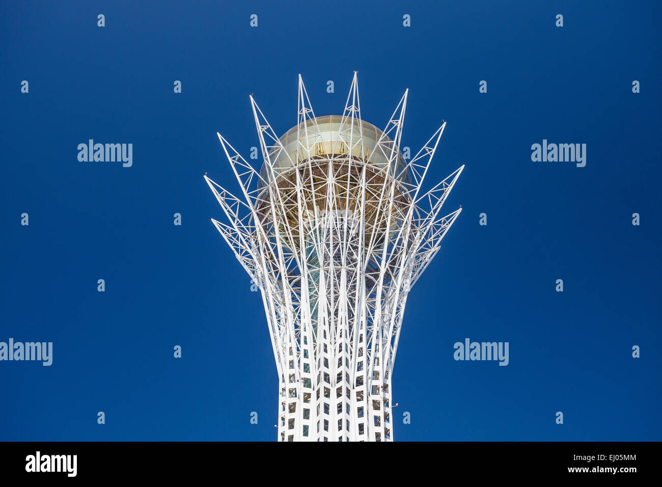 Astana, Bayterek, City, Kazakhstan, Central Asia, Monument, New City, Nurzhol, architecture, no people, skyline, - Stock Image