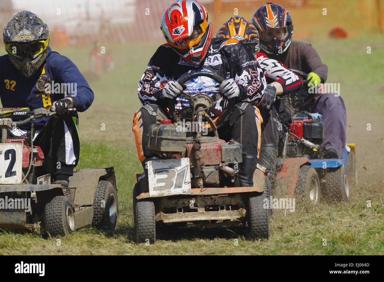 Lawnmower Racing, Anglesey, Showground - Stock Image