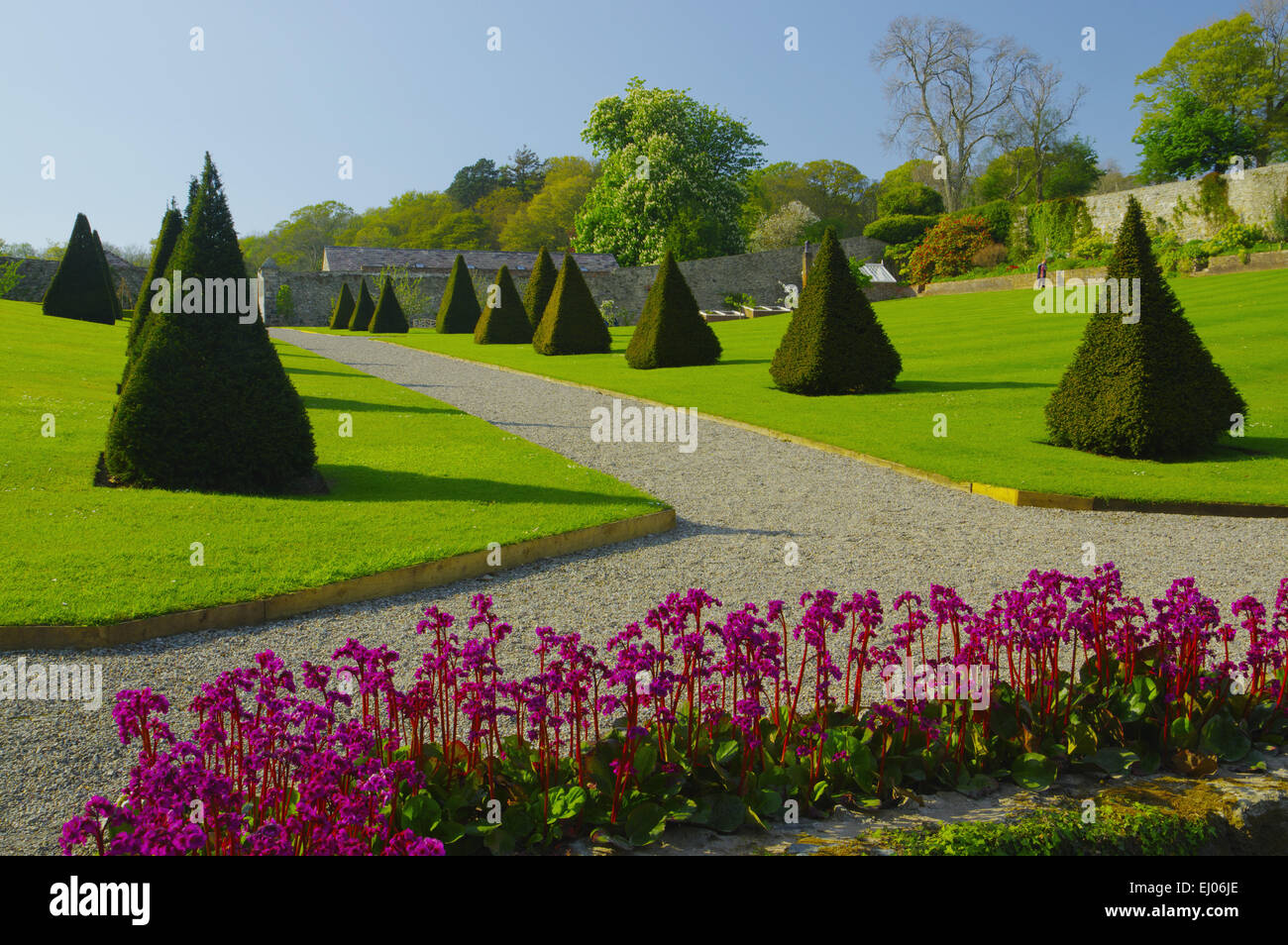 Garden, Plas Cadnant, Menai Bridge, Anglesey, North West Wales - Stock Image