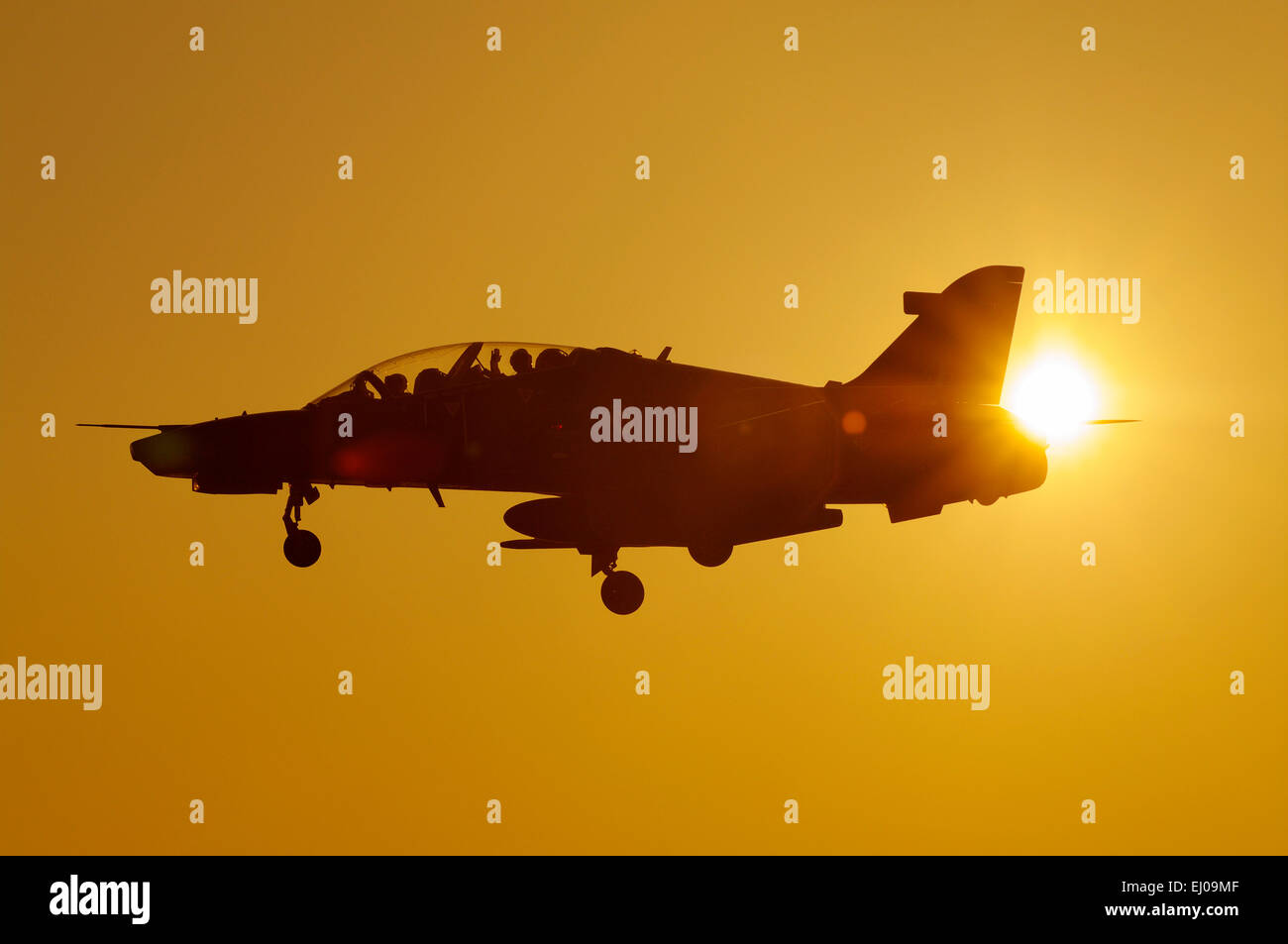Anglesey, Hawk, jet, aircraft, RAF Valley; Anglesey - Stock Image
