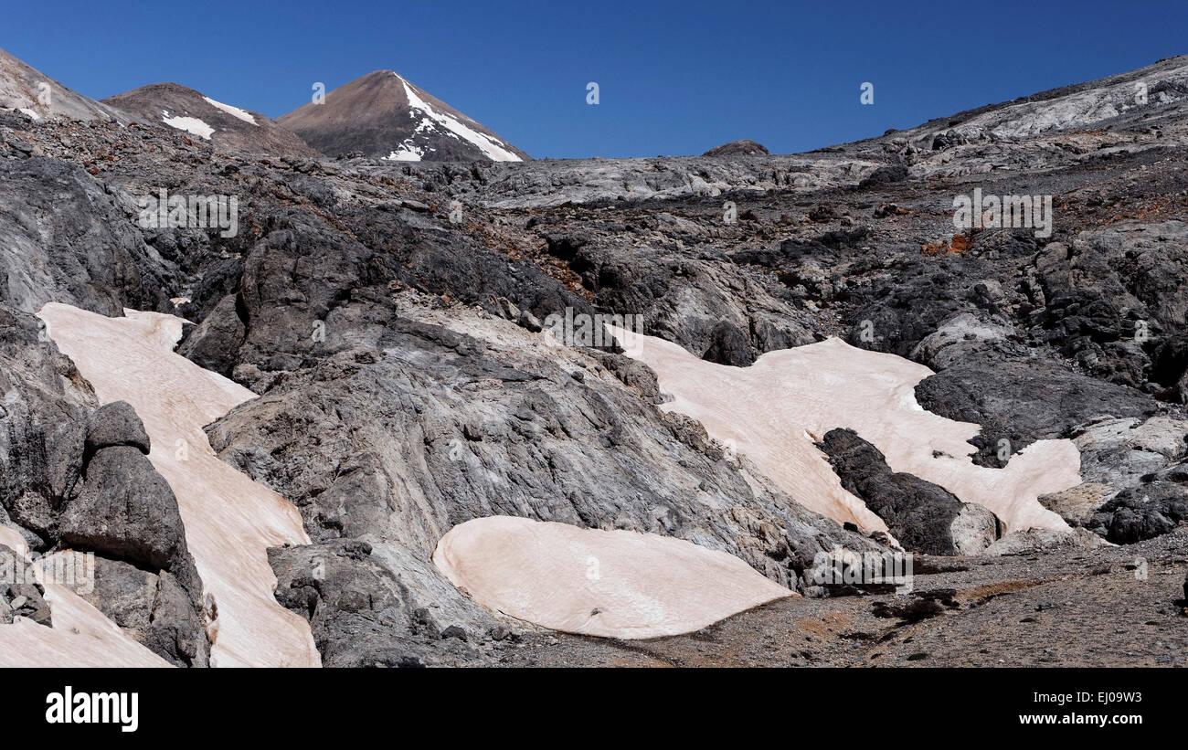 Aerosol, particle, Askifiotikos, mountains, mountain, landscape, mountain world, mountain wilderness, rock, cliff, - Stock Image