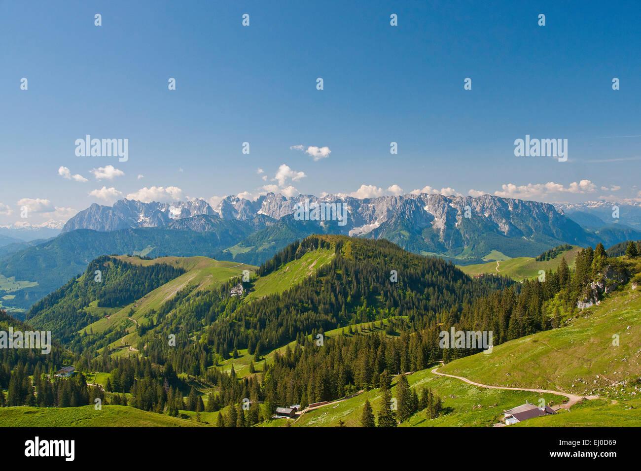 Bavaria, Europe, Germany, Upper Bavaria, Chiemgau, Aschau, Priental, Prien, Sachrang, Geigelstein, Wilder Kaiser, Stock Photo